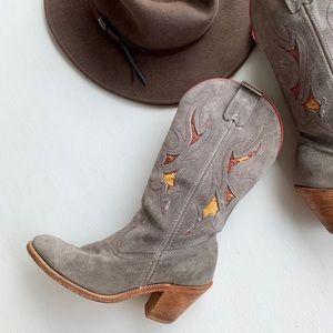 Laredo Cowgirl Boots Round Toe EUC
